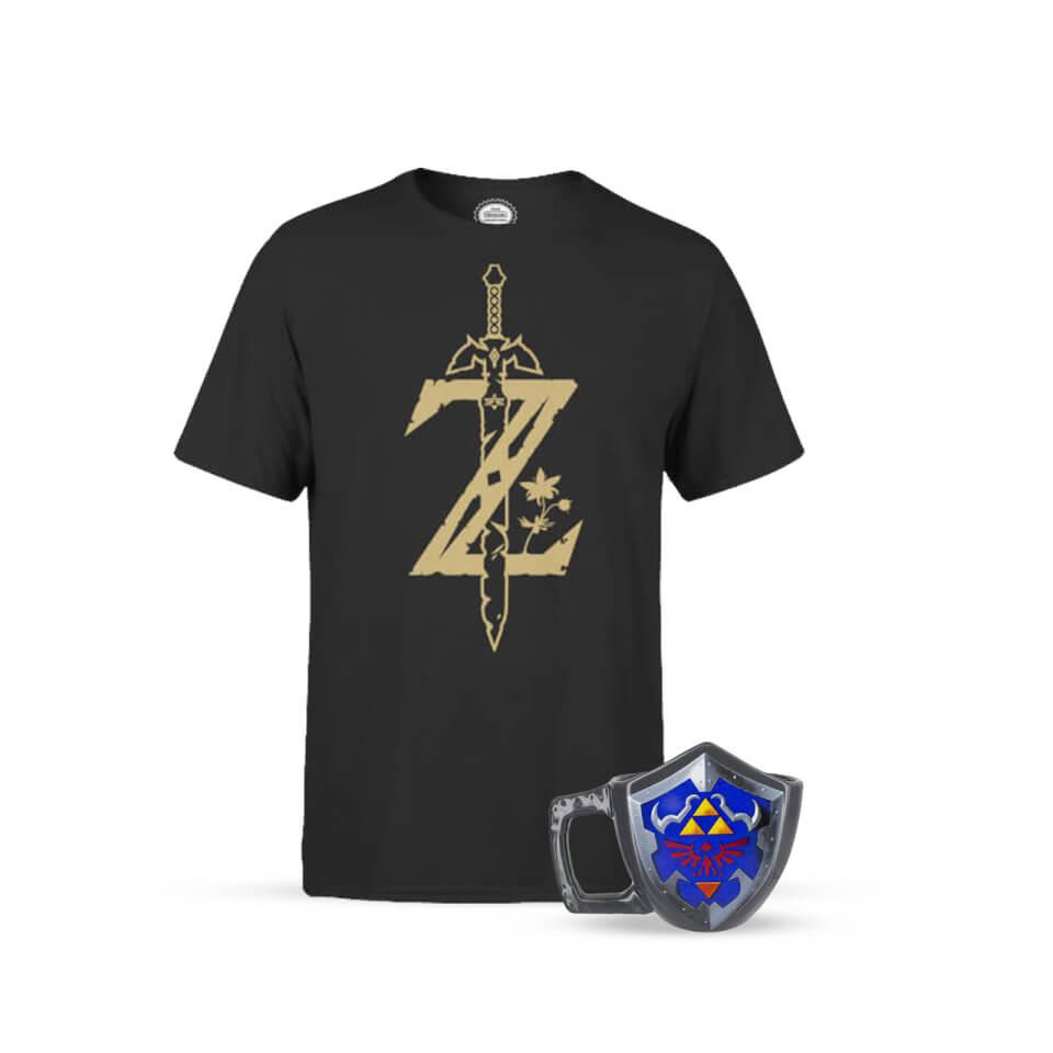 Nintendo Zelda Master Sword T-Shirt + Shield Tasse für 16,59€ (Zavvi)