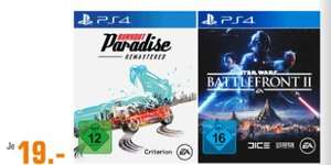 [Regional Saturn Braunschweig] Burnout Paradise Remastered - [PlayStation 4] und Star Wars Battlefront 2 - [Playstation 4] für je 19,-€