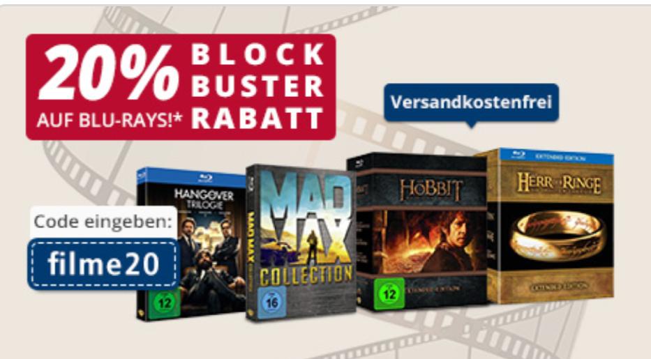 20% auf ausgewählte Warner Filme auf real.de inkl. Kostenlosem Versand