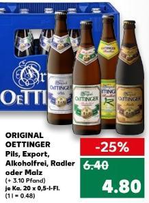 """Zum """"Tag des Bieres"""" Oettinger Pils, Export, Alkoholfrei, Radler und Malz bei Kaufland"""