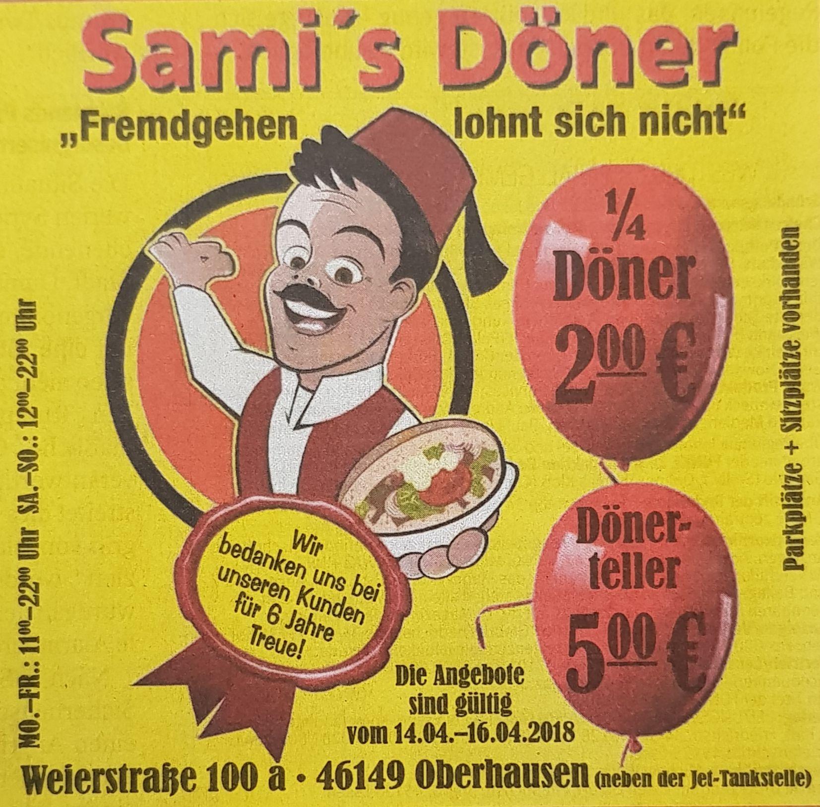 [Lokal Oberhausen NRW] Jubiläumstage bei Sami's Döner