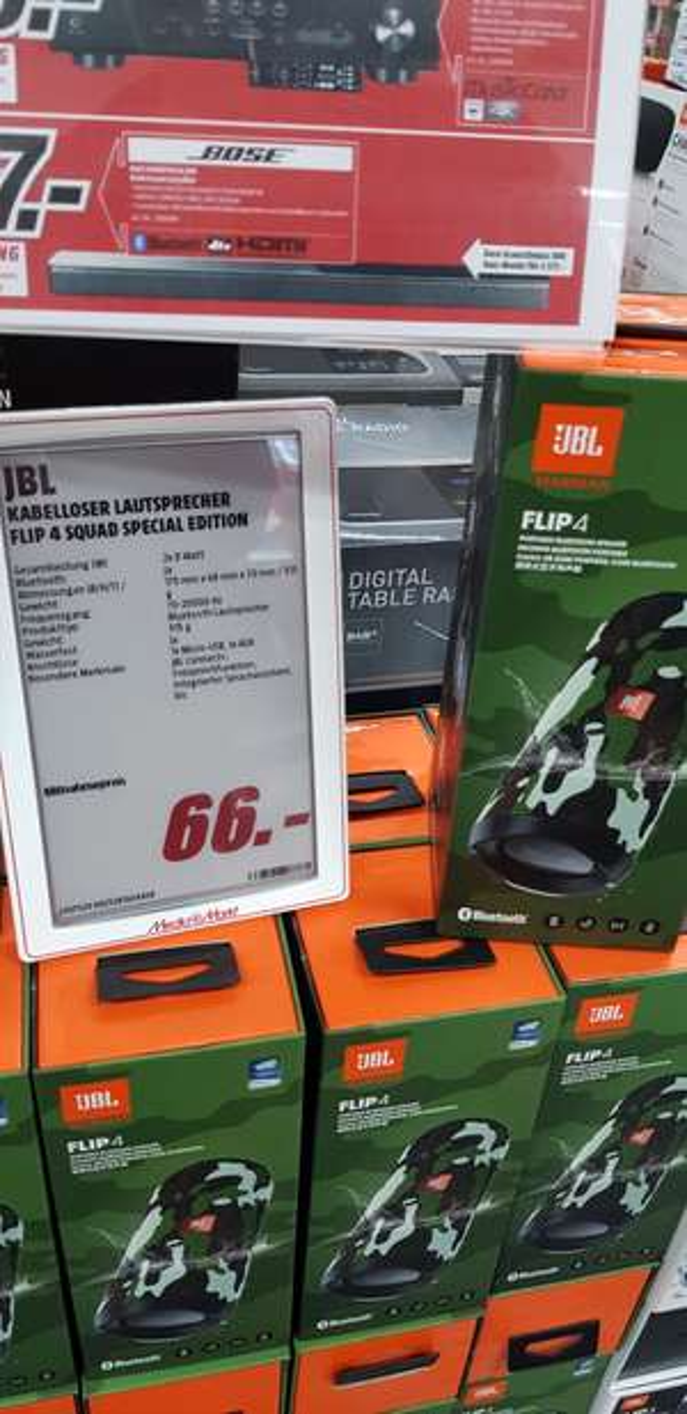 [Lokal Media Markt Osnabrück-Belm] JBL Flip 4 Squad Special Edition Kabelloser Lautsprecher