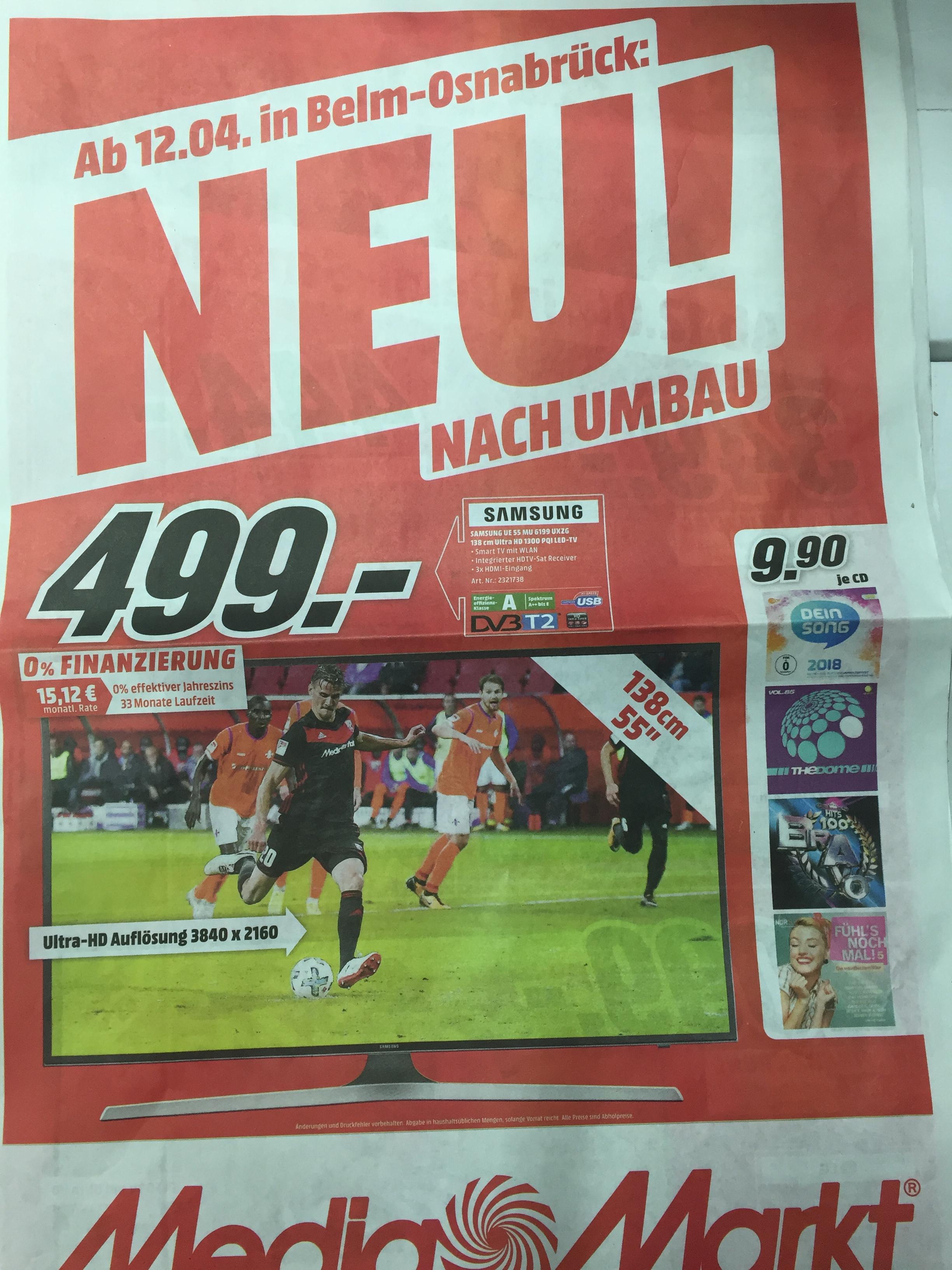 [Lokal Media Markt Osnabrück-Belm] Neueröffnungsangebote nach Umbau ab 12.04.18