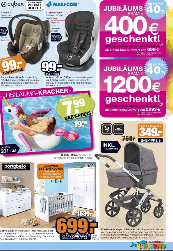 """ABC DESIGN Kombikinderwagen """"SALSA 4"""" 349€ / CYBEX Babyschale """"Aton Q"""" 99€  [SEGMÜLLER OFFLINE]"""
