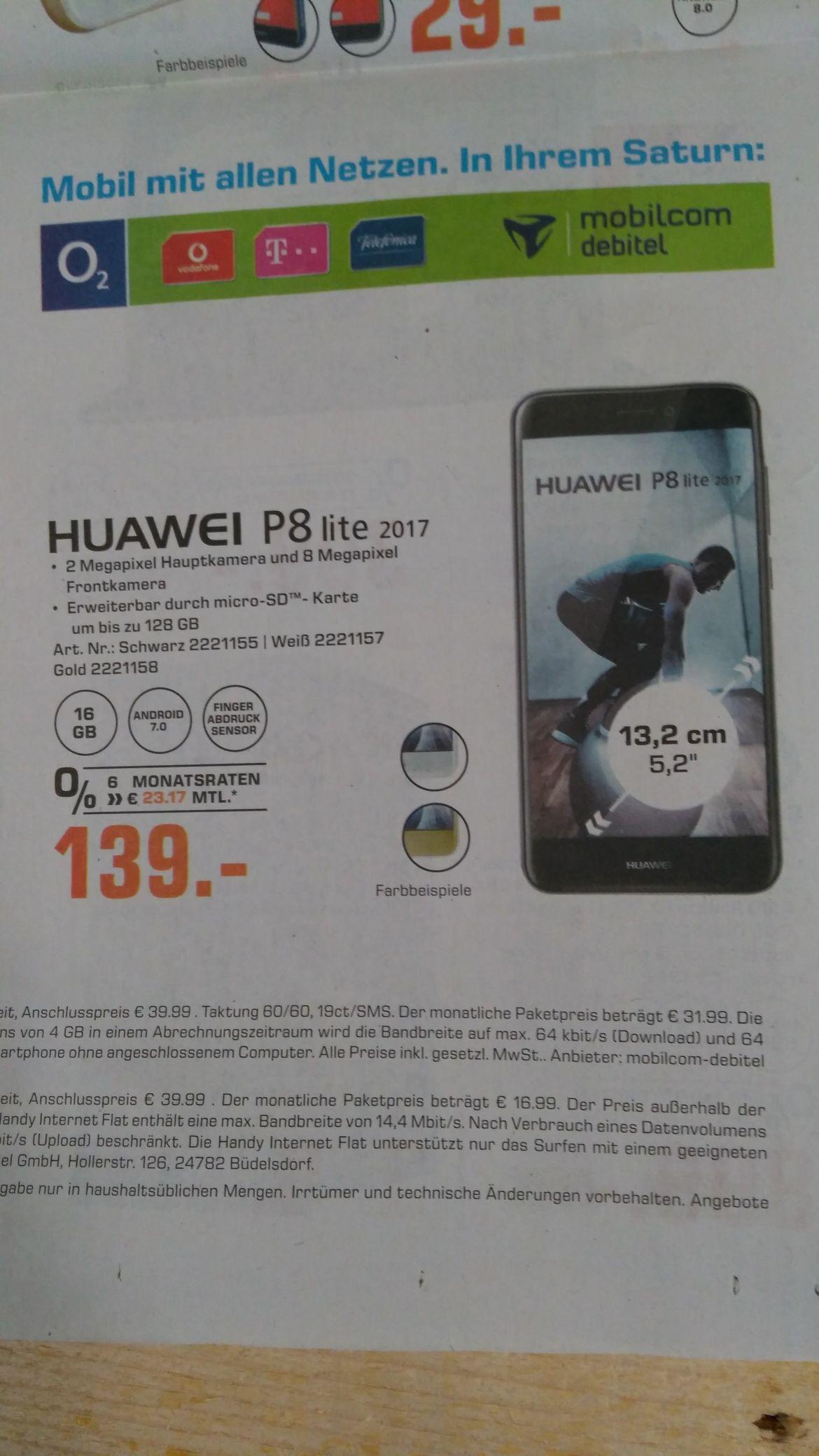 [Saturn] Huawei P8 Lite 2017 für 139€