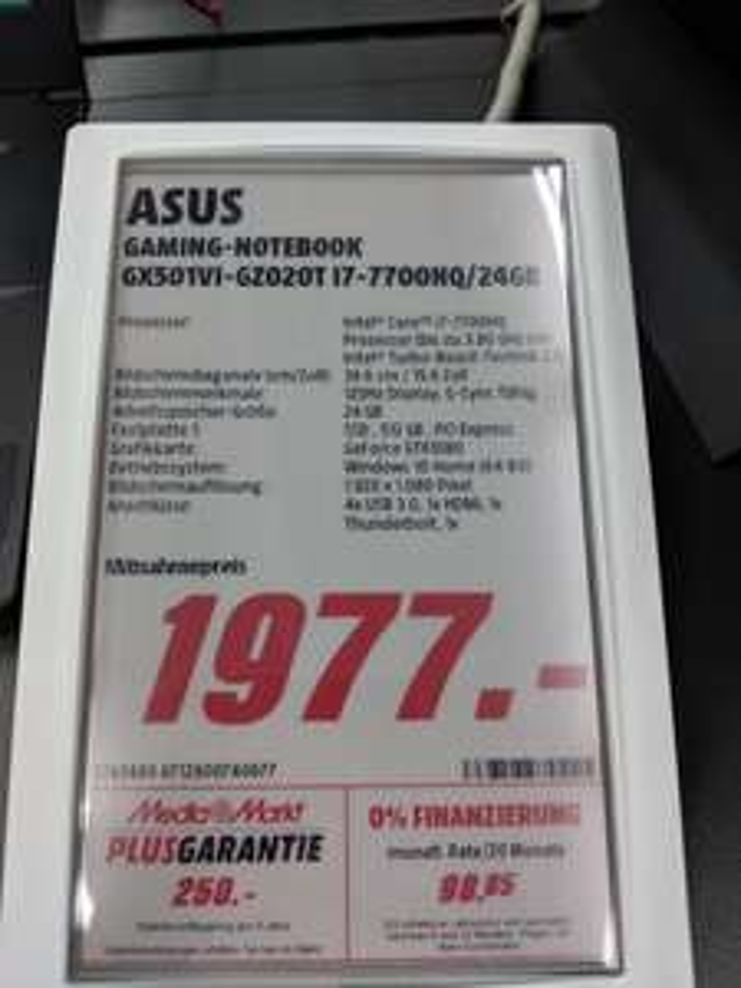 Asus ROG Zephyrus GX501VI-GZ020T Notebook