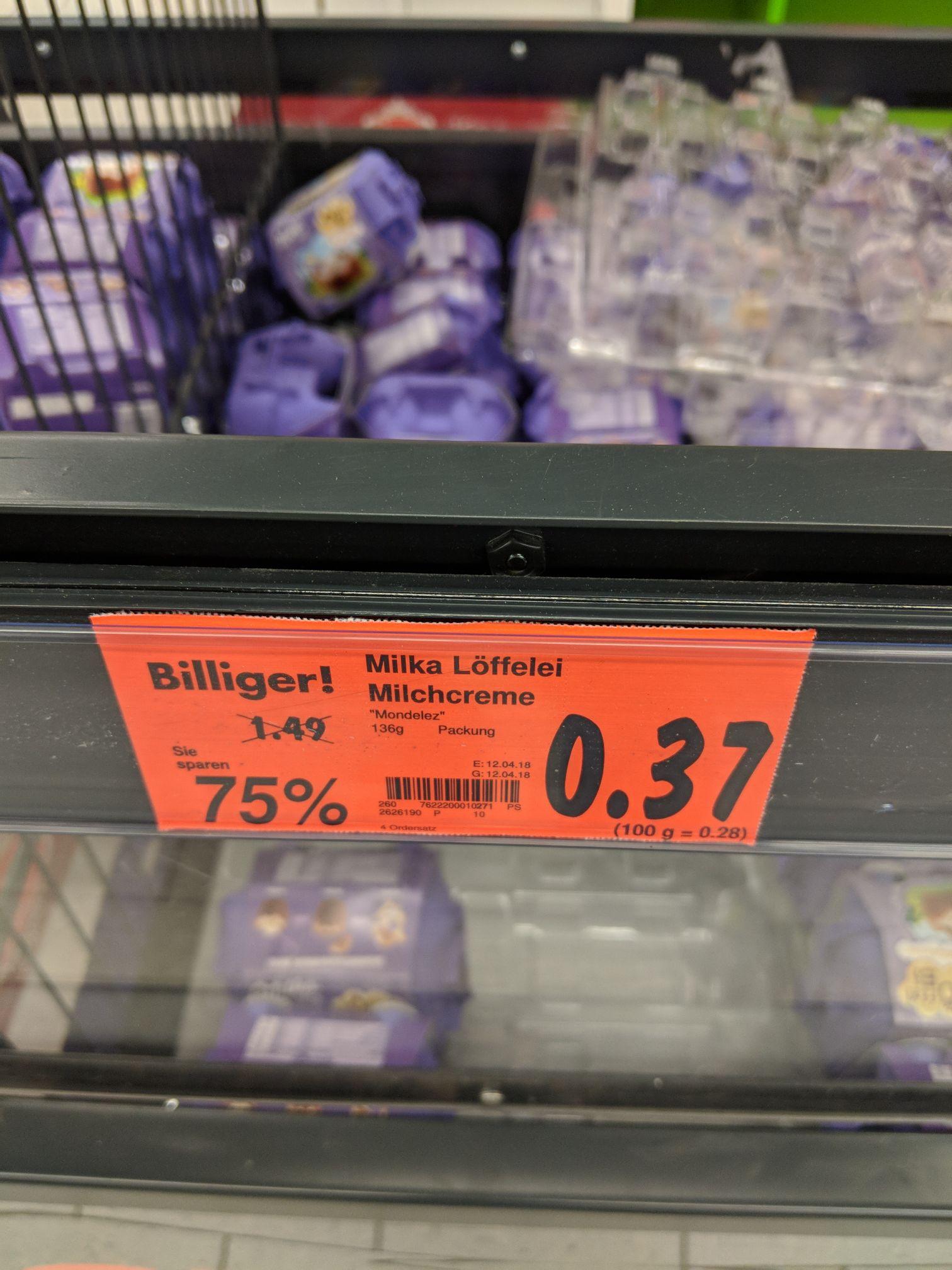 [Lokal Kaufland Weiterstadt] Milka Löffel Ei Milchcreme