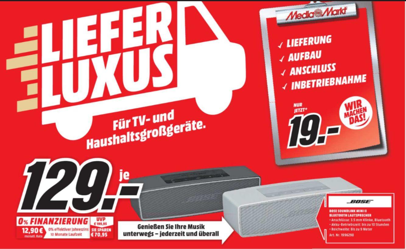 [Regional  Mediamarkt Amberg/Weiden] BOSE SoundLink Mini Bluetooth speaker II, Bluetooth Lautsprecher in  2 Farben für je 129,-€