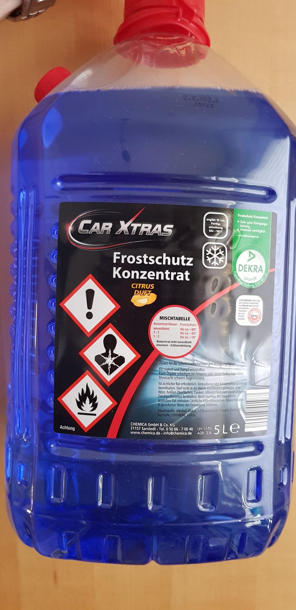 LOKAL Aldi BERLIN MITTE Scheibenreiniger Frostschutzkonzentrat 5Liter
