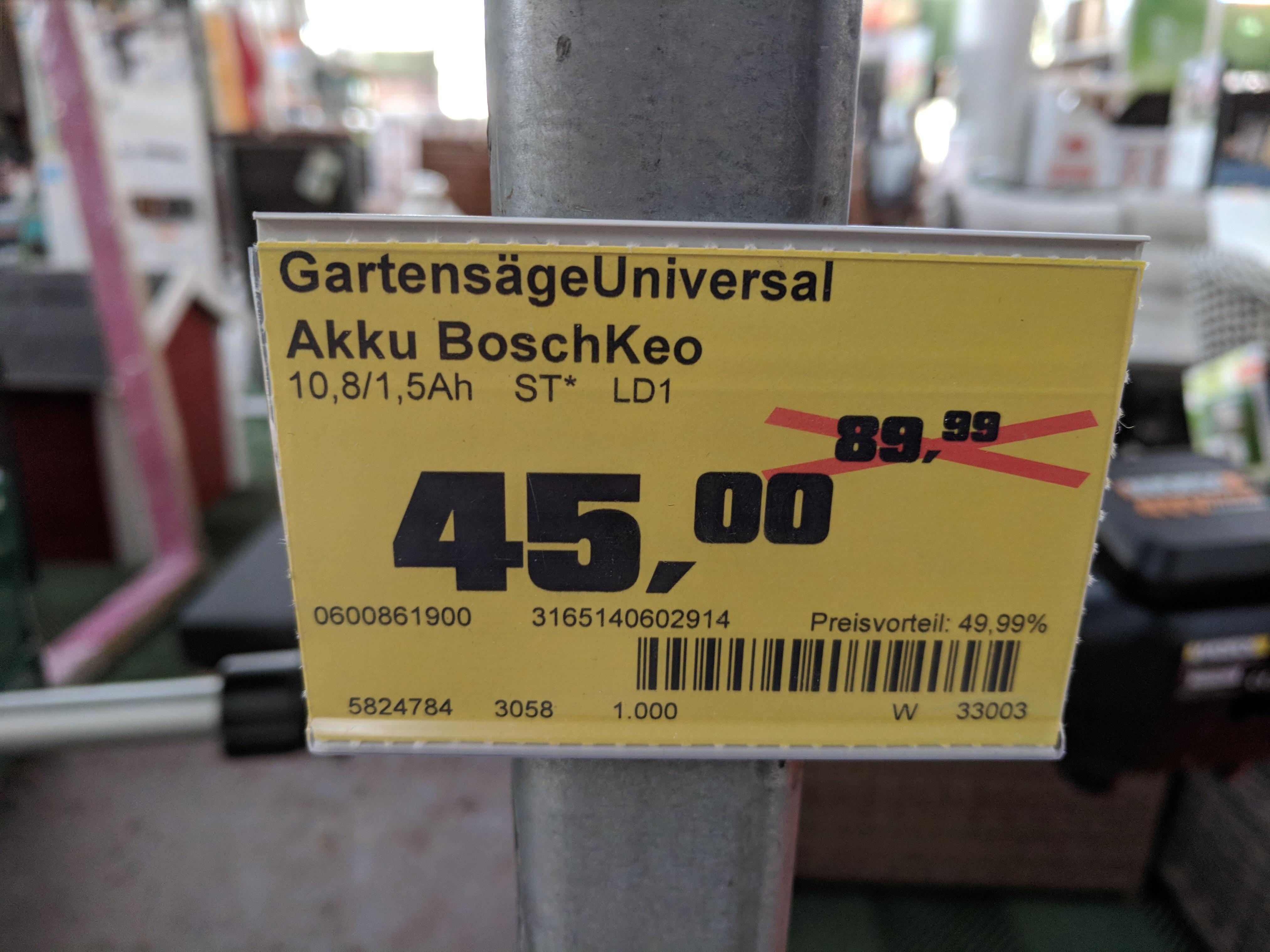 [Lokal Husum] Bosch Keo Akku Gartensäge bei OBI
