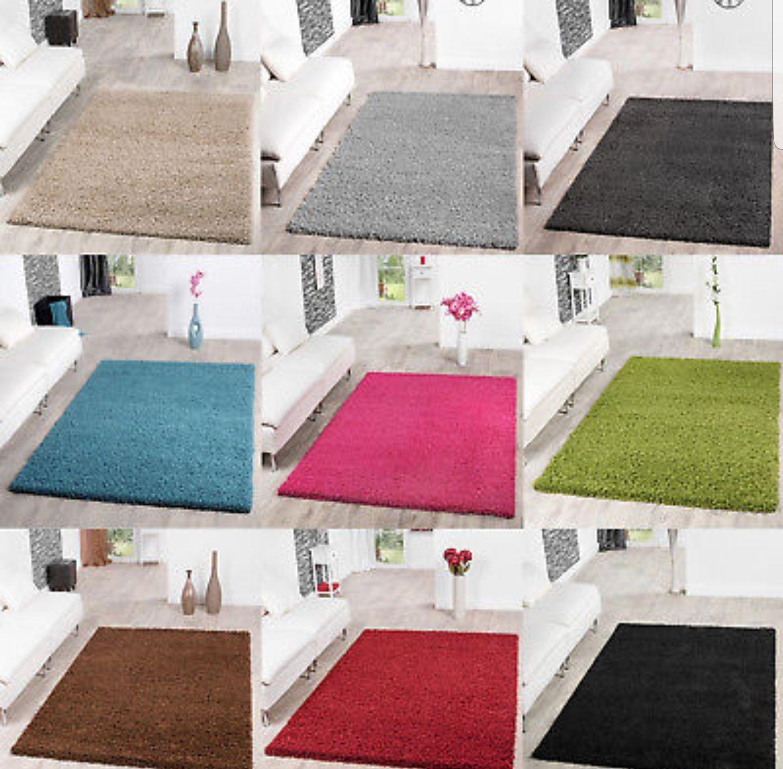 Hochflor Teppiche in verschiedenen Größen und Farben ab 3,90€ inkl. Versand