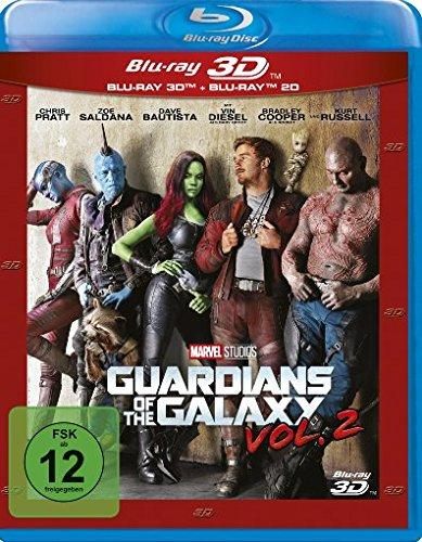 Guardians of the Galaxy Vol. 2 (3D Blu-ray + 2D) für 17,99 & (Blu-ray) für 12,99€ Amazon Prime)