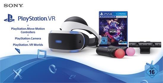 PS VR Brille + Camera + Move + Worlds Bundle