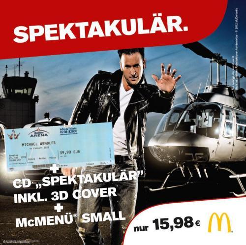 Michael Wendler Konzert+Album- inkl 3D Cover+Mc Menu Small