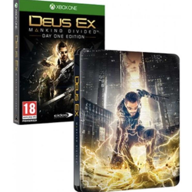 Deus ex (Xbox) Day one mit steelbox