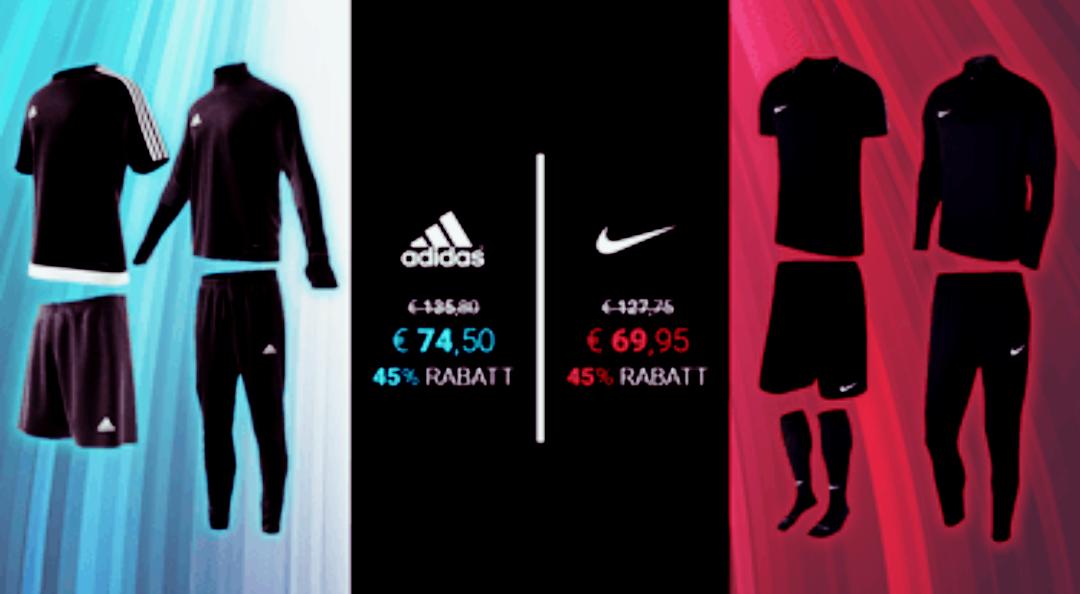 geomix - 45% auf Trainingssets - Adidas/Nike