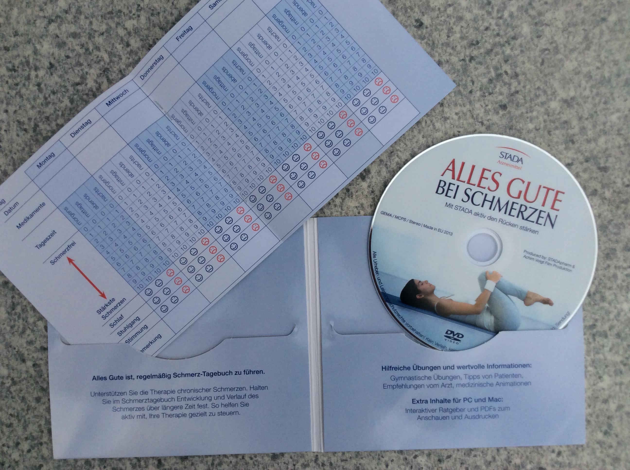 DVD zum Thema Rückenschmerzen incl. Booklet (STADA)
