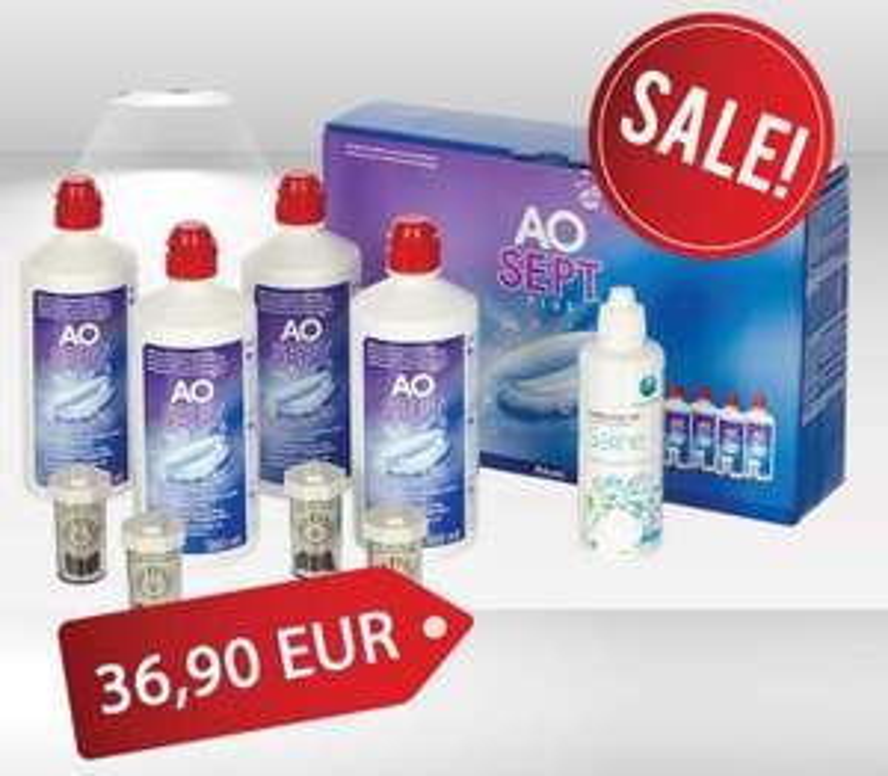 Aosept Plus 4er Vorteilspack + gratis 100ml Kochsalzlösung + gratis Versand