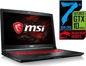 """MSI GL72MVR 7RFX-833 für 1179€ - 17,3"""" Notebook mit FullHD, Core i7-7700HQ, 16GB Ram, GeForce GTX 1060 (6GB), 256GB SSD und einem freien Slot"""