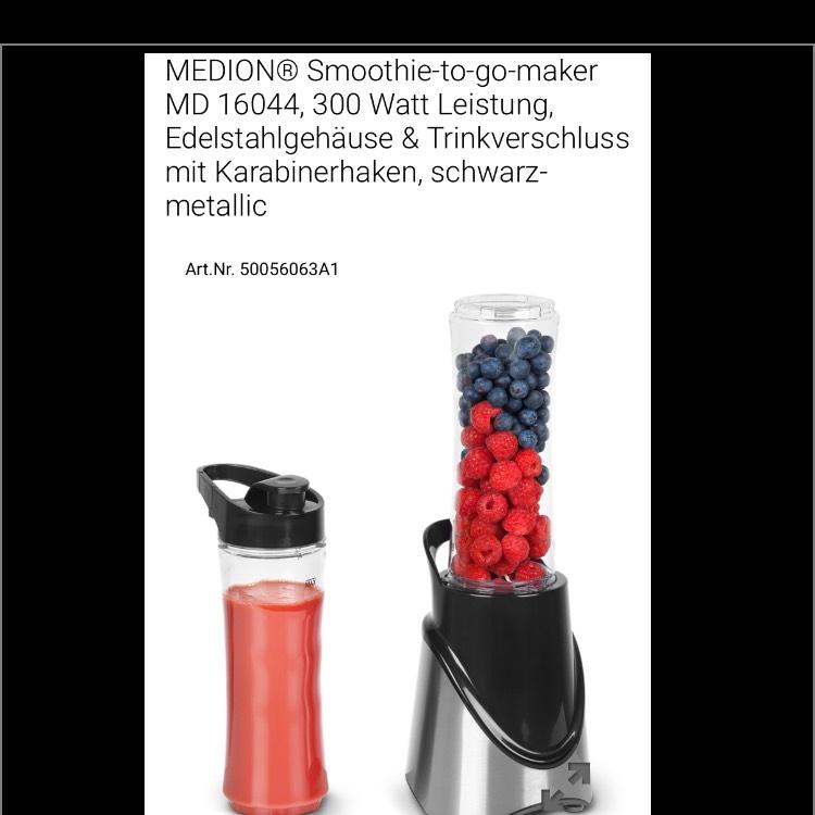 Medion Smoothie-to-go-maker + Gratis Versand