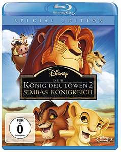 Der König der Löwen 2 - Simbas Königreich (Special Edition Blu-ray) für 7,99€ (Amazon Prime & Dodax)