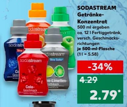 [Kaufland] Ab 19.04. Sodastream Getränkekonzentrat 500ml versch. Sorten