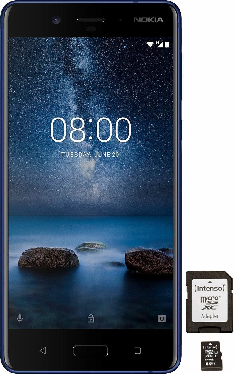 OTTO: Nokia 8 mit 4/64GB Single-Sim + Intenso 64GB Speicherkarte