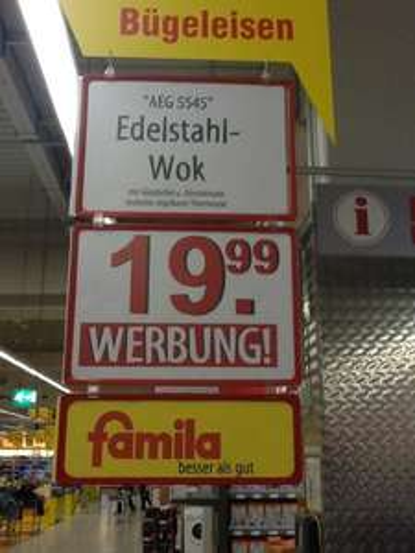[Lokal Bielefeld] AEG Edelstahl Wok 5545 für 19,99