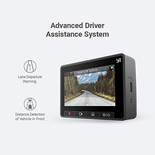 YI Dashcam C10 Full HD 1080p mit Nachtsicht, WLAN und Bluetooth, Dash Camera Auto Kamera mit 2.7 Zoll Display, 6.68 cm Bildschirm, Auto Zubehör App kompatibel mit iOS und Android (z.B. Samsung, Apple, Huawei) – Grau
