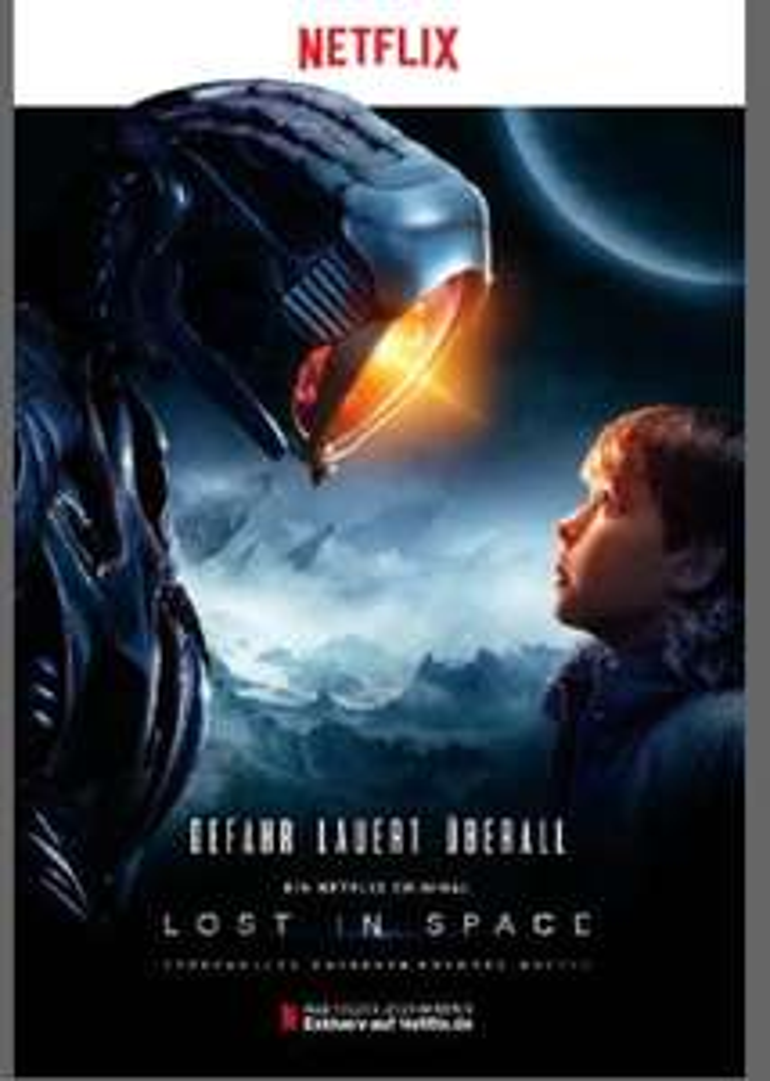 """Kostenloses Serienplakat zur Netflix Serie """"Lost in Space"""" [Serienplakete.de]"""