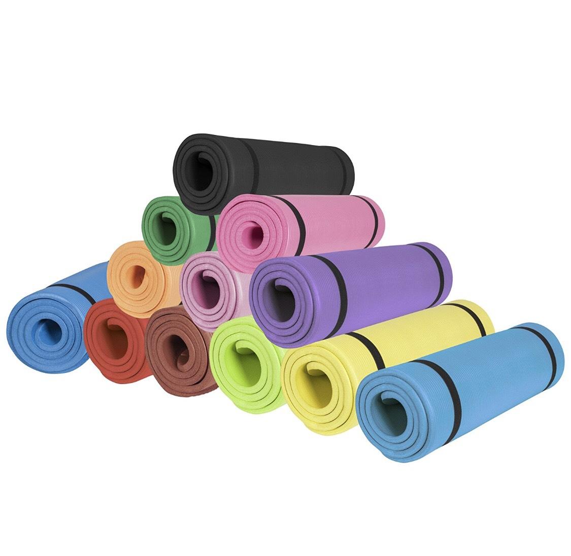 GORILLA SPORTS Yogamatte alle Farben + gratis Loop Band in Pink gratis Versand