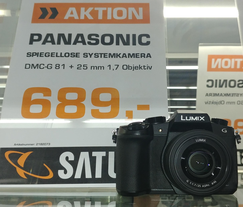 Panasonic Lumix DMC-G81 mit Panasonic 25mm 1.7 lokal im Saturn Stuttgart