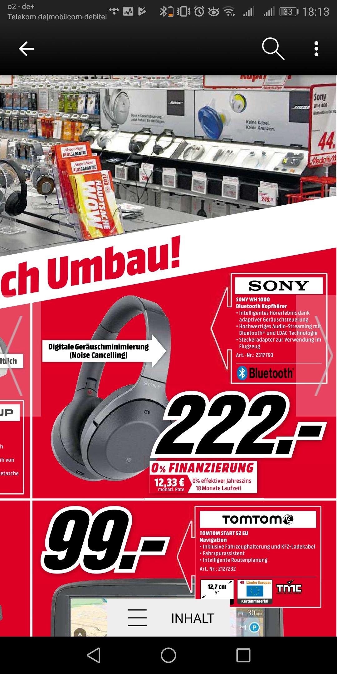 Sony WH1000XM2 im MM Belm