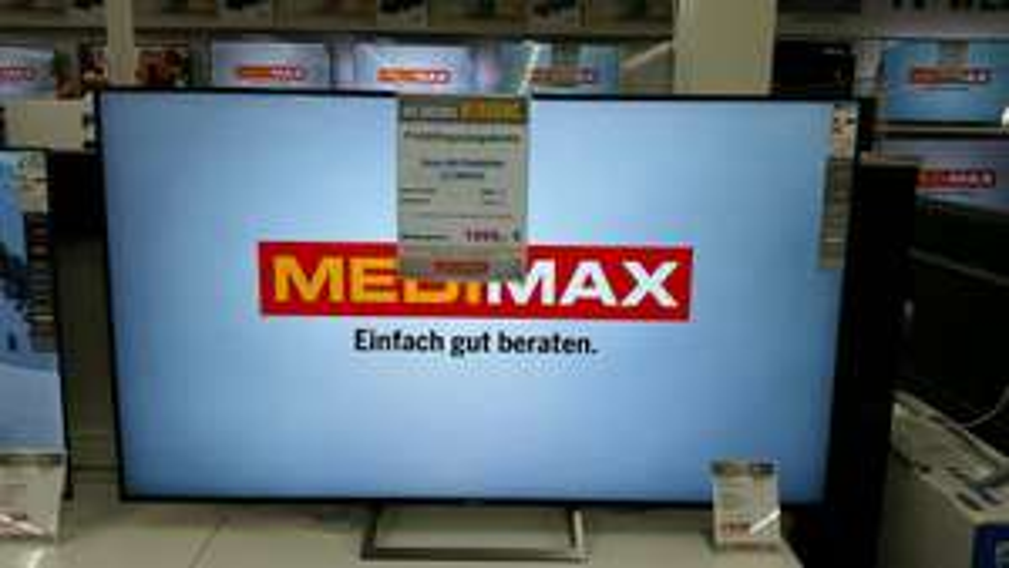 Sony LED TV KD-75XE8596BAEP 1899€ [MEDIMAX METTMANN]