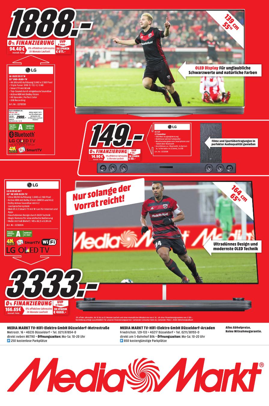 LG 65 Zoll OLED 4K 65W7 bei Media Markt Düsseldorf