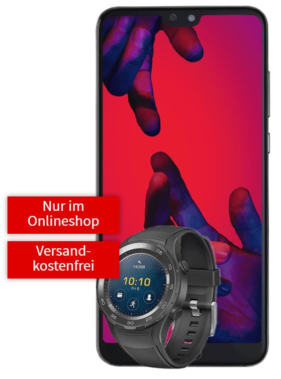 HUAWEI P20 Pro Dual SIM & Huawei Watch 2 mit dem Mobilcom Debitel (Vodafone) real AllnetTarif bei der Mediamarkt Tarifwelt
