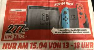 [Media Markt Weinheim] Nintendo Switch Sonntag 15.04.