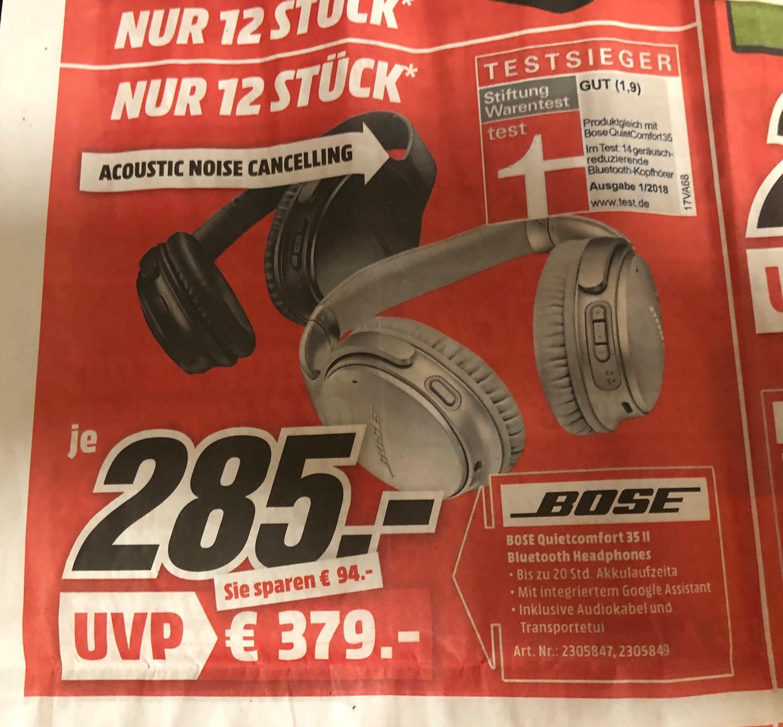[Media Markt Weinheim] BOSE QC35 II Sonntag 15.04.