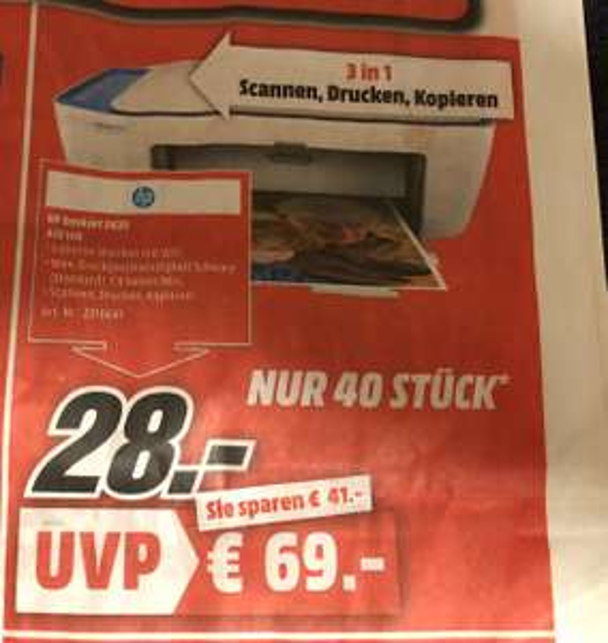 [Media Markt Weinheim] HP DESKJET 2630