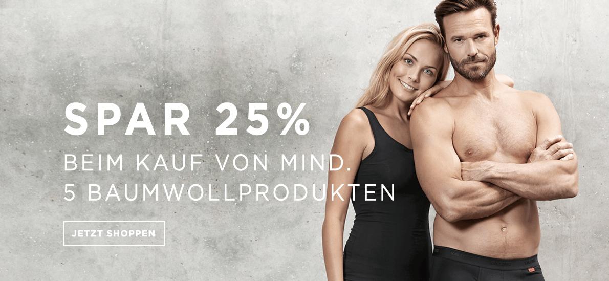 25-35% auf alle Baumwollartikel bei Dilling Underwear
