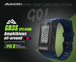 Makibes G03S Smart Bracelet GPS IP68 Water Resistant Heart Rate Monitor