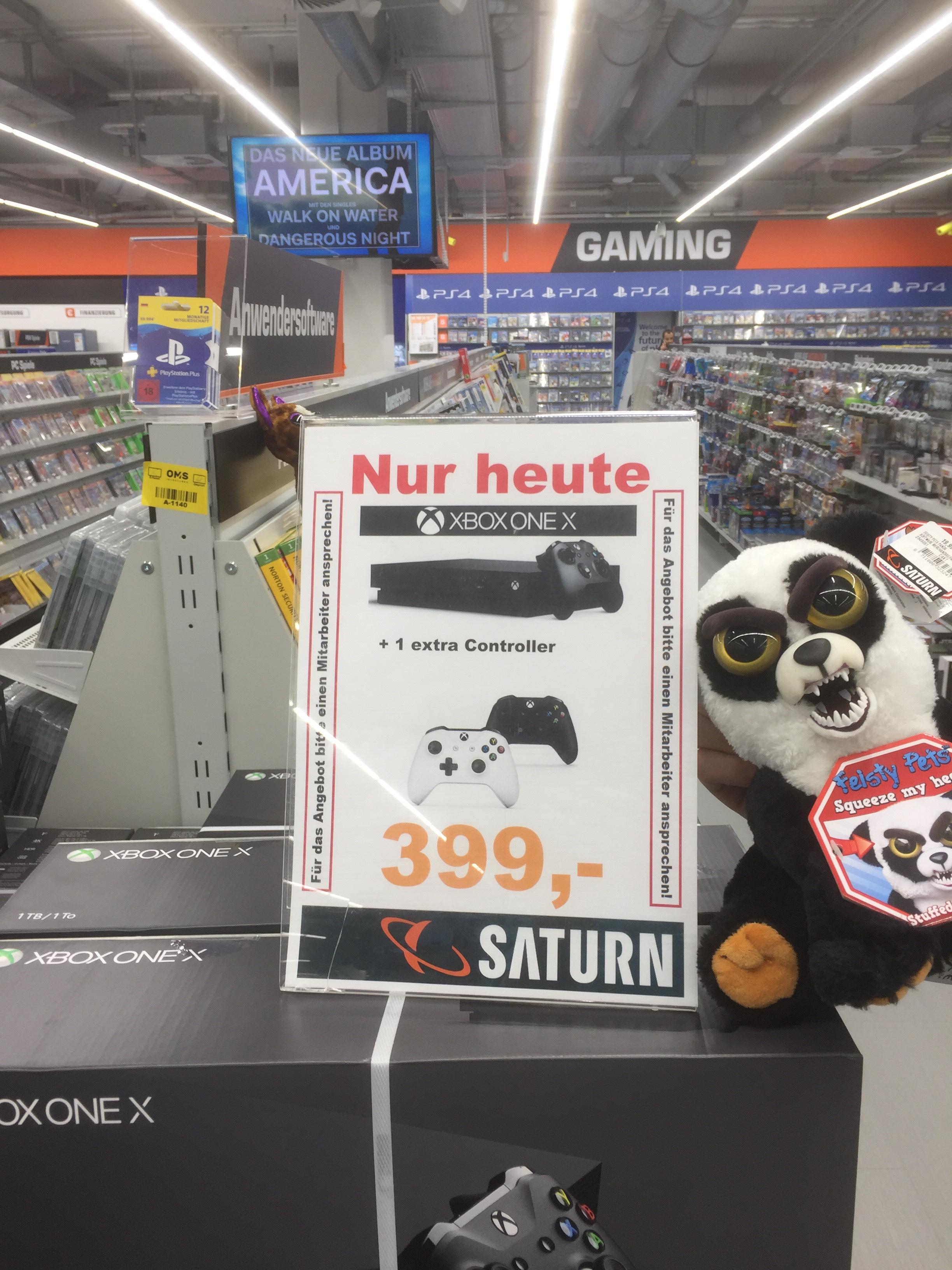 XBox ONE X Tagesdeal im Saturn Braunschweig.
