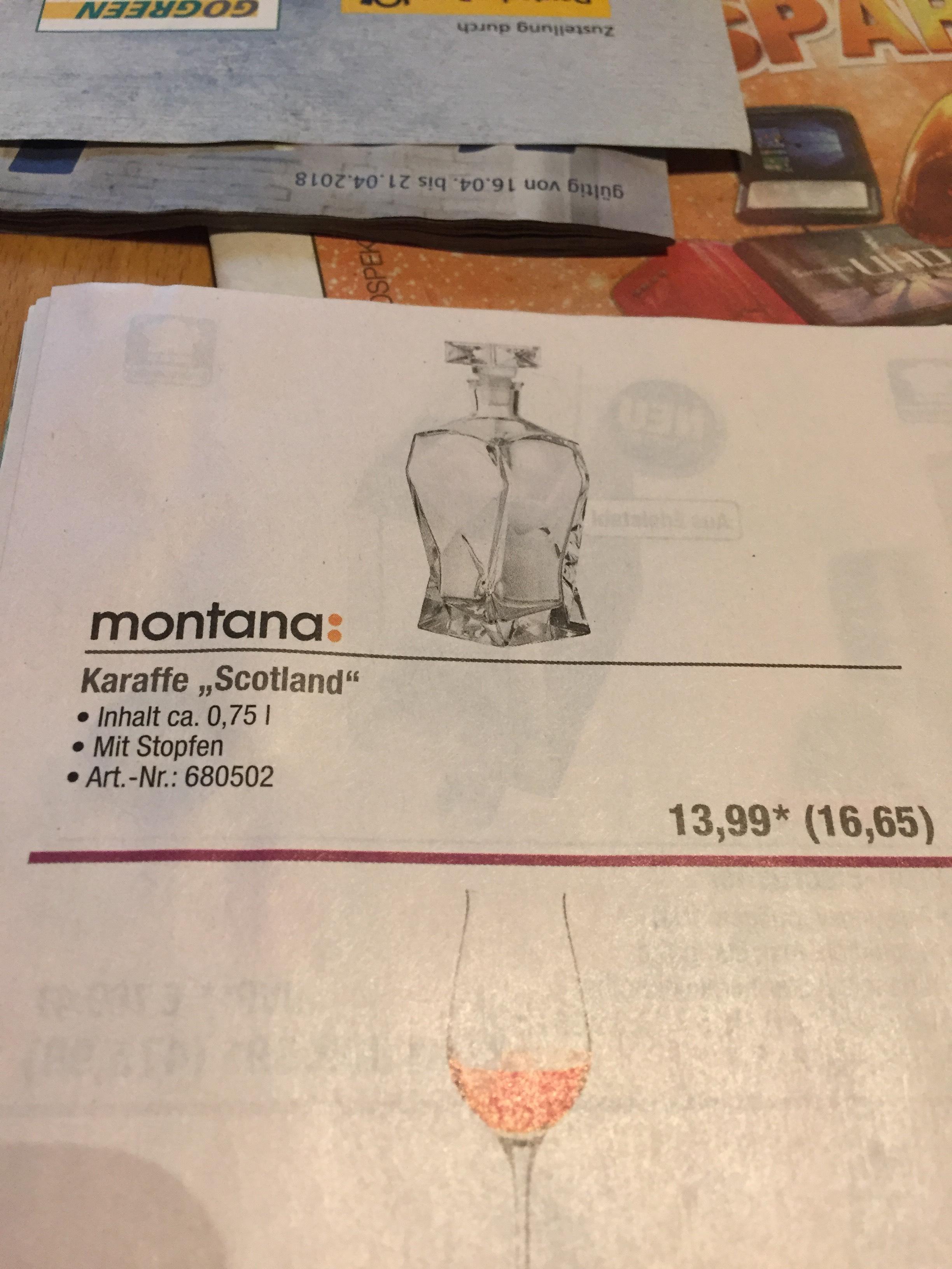METRO - Karaffe Scotland - Montana