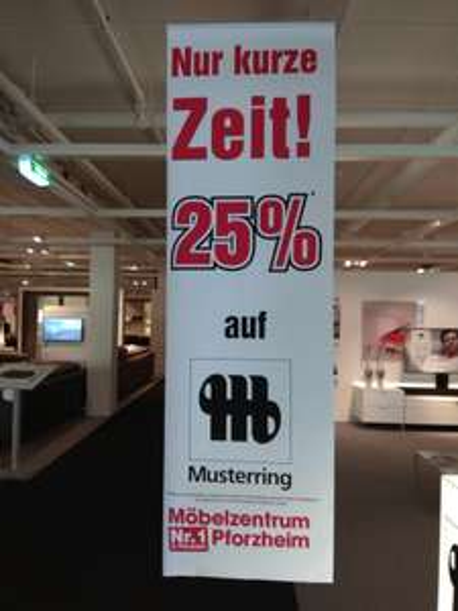 Möbelzentrum Pforzheim 25% auf Musterring!!
