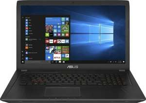 Asus FX753VD-GC384T Notebook (43,9 cm/17,3 Zoll, Intel Core i5, GeForce GTX 1050, 1000 GB HDD, 256 GB SSD)