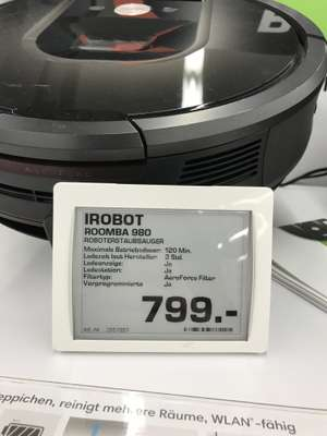 [Lokal Saturn Mainz] iRobot Roomba 980 + 100€ Coupon