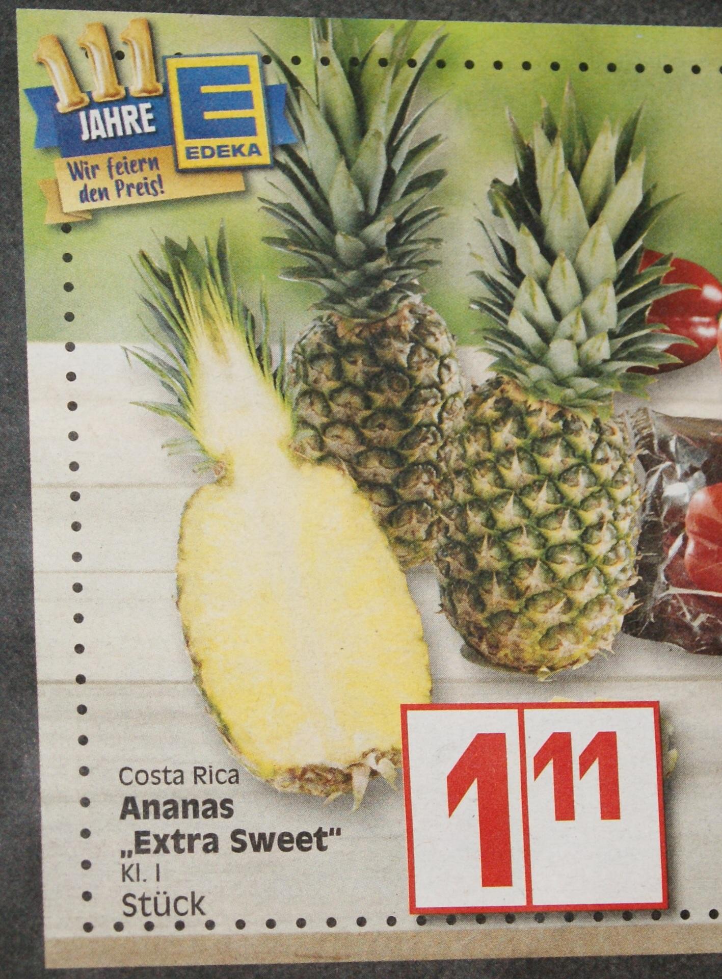 Ananas für 1,11€ bei Edeka ab 16.4.