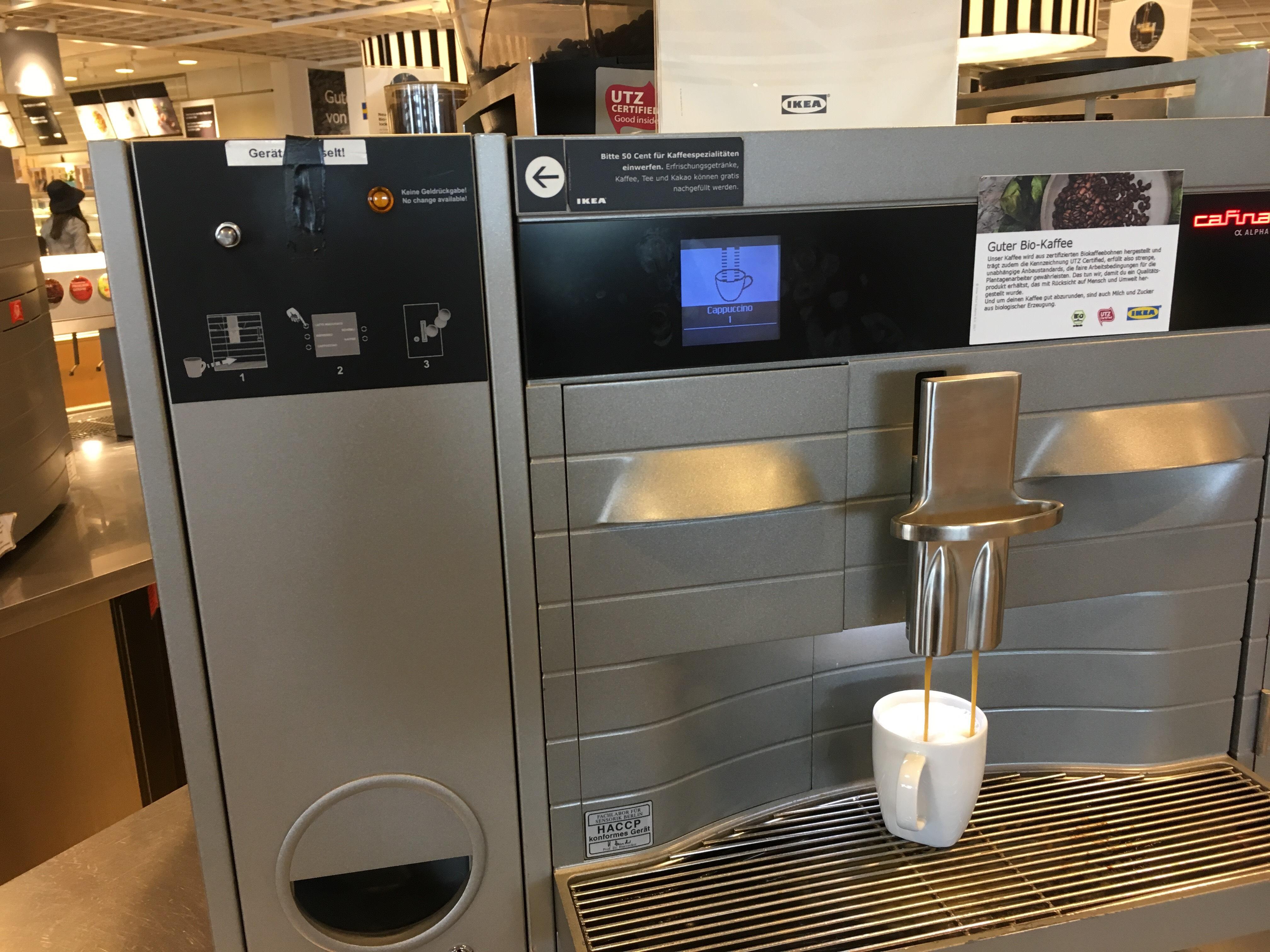 Ikea Dortmund - free Cappuccino und Milchkaffee.