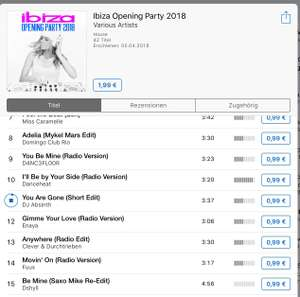 iTunes Ibiza Opening Party 2018 Preisfehler 42Tracks