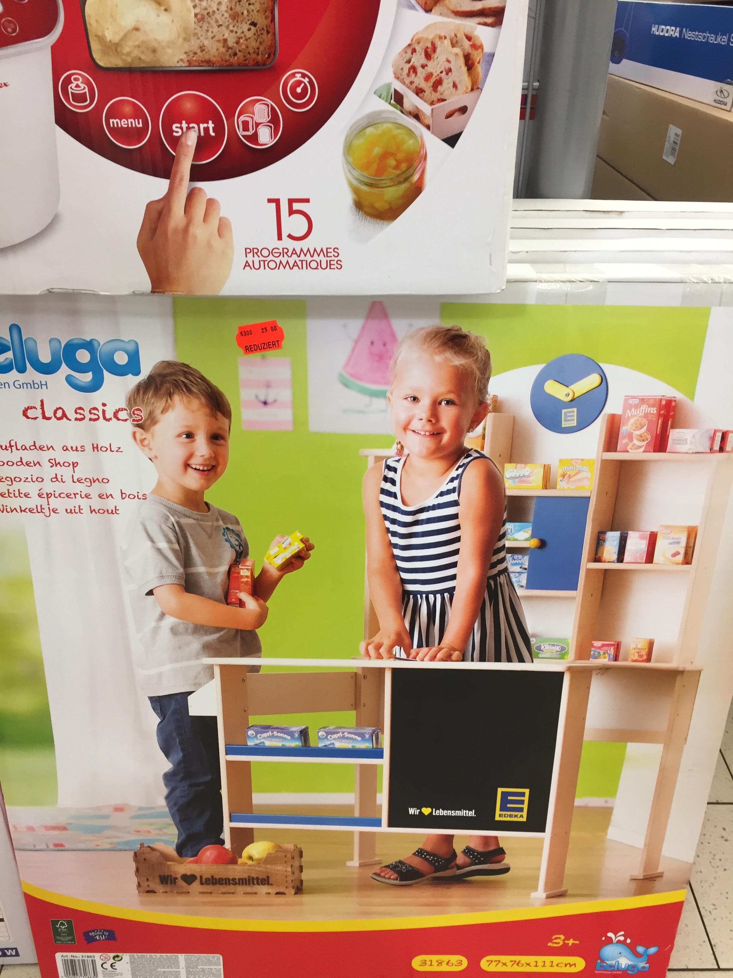 (Lokal Bielefeld Gadderbaum) Martkauf Holzkaufladen, Holzmagnettafel + Holzfrühspielzeug für Kinder im Ausverkauf